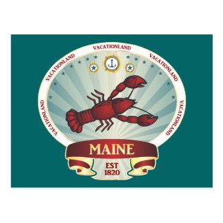 Maine-Hummer-Wappen Postkarte