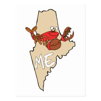 Maine ICH Cartoon-Karte mit Hummer-Kunst Postkarte
