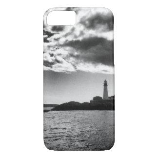 Maine-Leuchtturm-schwarzer u. weißer iPhone/iPad iPhone 8/7 Hülle