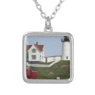 Maine-Leuchtturm Versilberte Kette