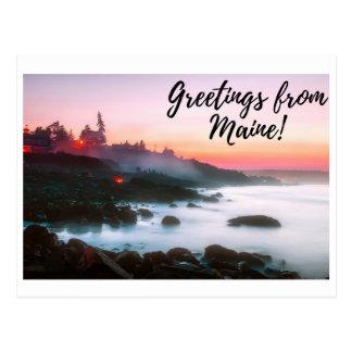 Maine-Postkarte - Burger-Posten-Kunst #005 Postkarte