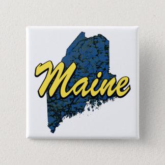 Maine Quadratischer Button 5,1 Cm