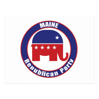 Maine-Republikaner-Party Postkarte