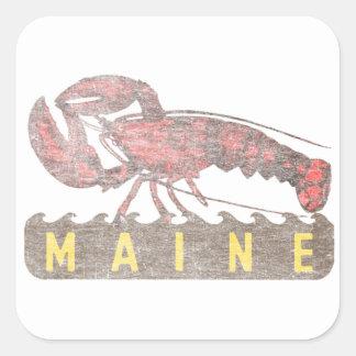 Maine-Rot-Hummer Quadratischer Aufkleber