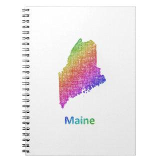 Maine Spiral Notizblock