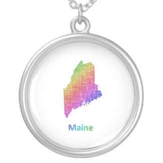 Maine Versilberte Kette