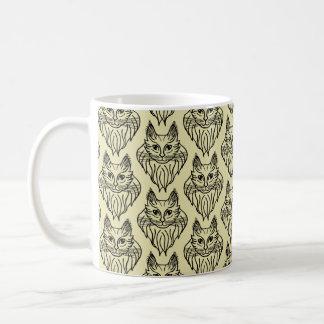Maine-Waschbär-gemusterte Tasse