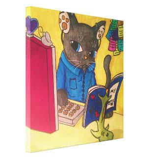 Maine-Waschbär-Verfasser-Katze durch Acrylkatzen Leinwanddruck
