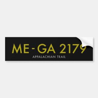 Maine zu Georgia 2179 Meilen - appalachische Spur Autoaufkleber
