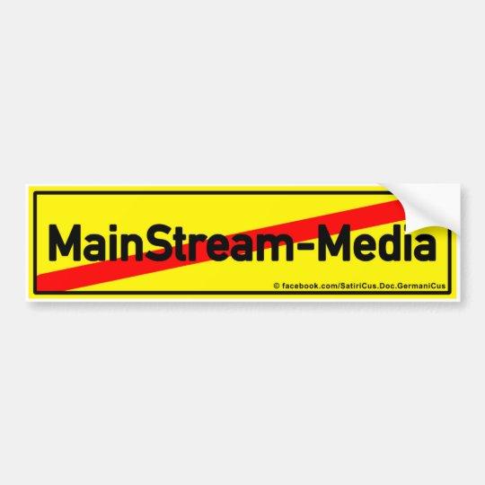 MainStream-Media: SCHLUSS! Autoaufkleber
