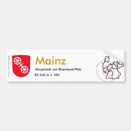 Mainz 1 autoaufkleber