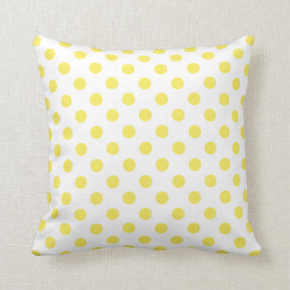 Mais-gelbe Tupfen-Kreise Kissen