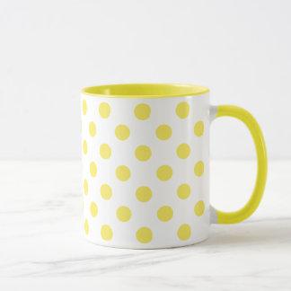 Mais-gelbe Tupfen-Kreise Tasse