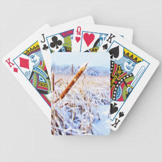 Mais-Hund im Winter Bicycle Spielkarten