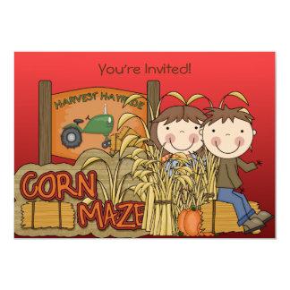 Mais-Labyrinth-Herbst-Party Einladungen