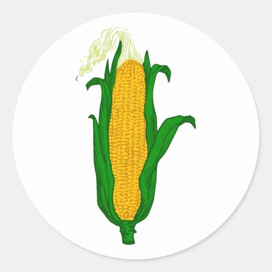 Mais Maiskolben corn cob Runder Aufkleber