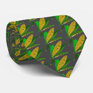 Mais mit grünem Blätter. Grau Personalisierte Krawatte