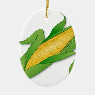 Mais Ovales Keramik Ornament