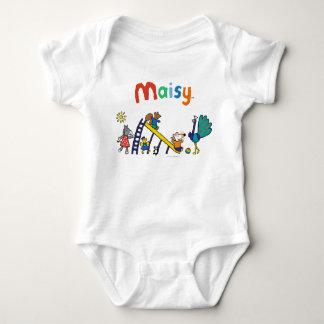 Maisy auf dem Spielplatz mit Freunden Baby Strampler