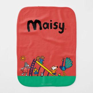 Maisy auf dem Spielplatz mit Freunden Spucktuch