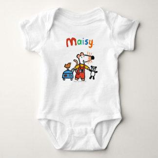 Maisy bereit zu den Ferien mit Gepäck Baby Strampler