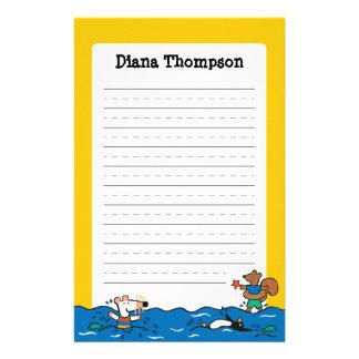 Maisy geht, am Strand zu schwimmen Briefpapier