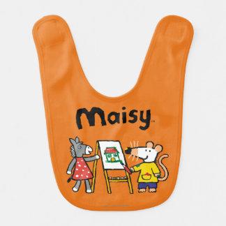 Maisy und Dotty Farbe an der Vorschule Lätzchen