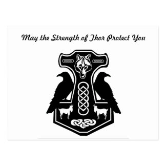 MaiThor schützen Sie der Hammer des Thors Postkarte