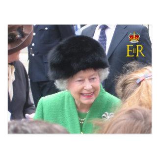 MAJESTÄT die das Jubliäum-Postkarte der Königin Postkarte