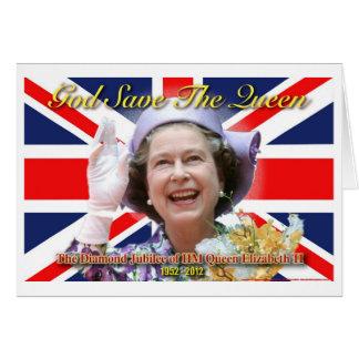 MAJESTÄT Königin Elizabeth II Diamant-Jubiläum Karte