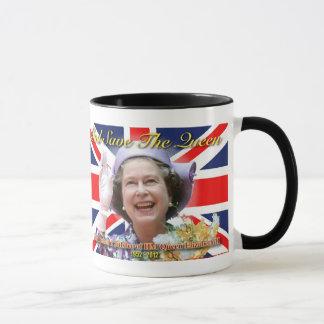 MAJESTÄT Königin Elizabeth II sechzigjähriges Tasse