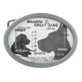 Majestätische Deutsche Doggen Ovale Gürtelschnalle