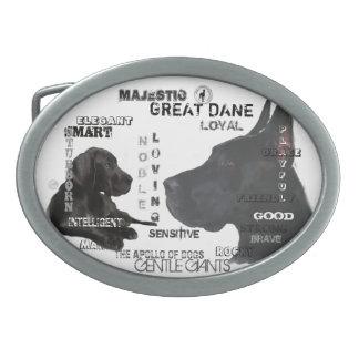 Majestätische Deutsche Doggen Ovale Gürtelschnallen