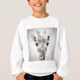 Majestätische Giraffe schilderte produktreiches Sweatshirt