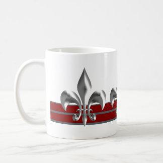 Majestätische silberne Bordeaux-Lilie Kaffeetasse