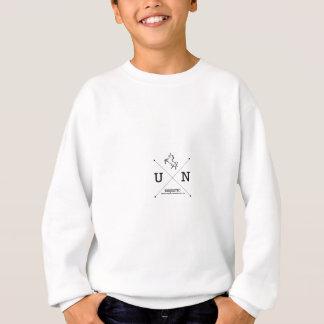 Majestätische Wappen-Miniatur des Unicorn-X Sweatshirt