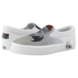 Majestätischer afrikanisches Grau-Papagei Slip-On Sneaker