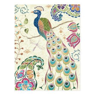 Majestätischer blauer Pfau Postkarte