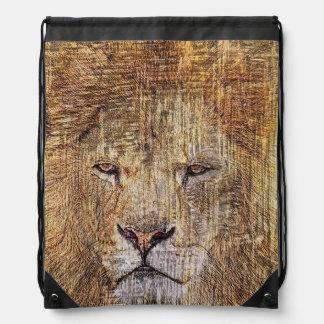 Majestätischer Löwe der Afrika-Safaritierwild Sportbeutel