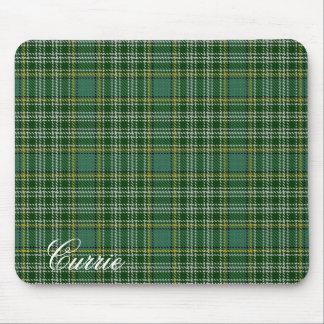 Majestätischer schottischer Clan Currie Tartan Mauspad
