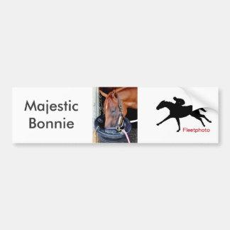 Majestätisches Bonnie Autoaufkleber