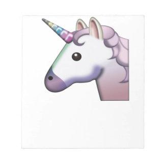Majestätisches Einhorn Emoji Notizblock