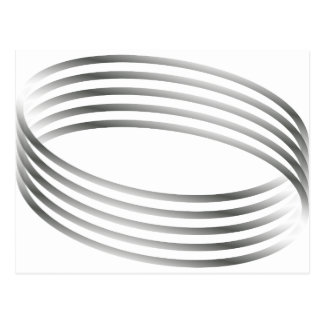 Majic Ring-optische Täuschung Postkarte