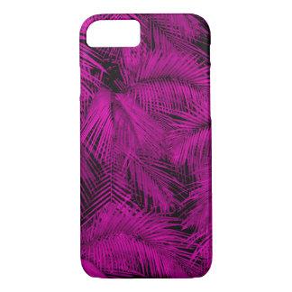 Makana Palmen-hawaiisches rosa tropisches Blätter iPhone 8/7 Hülle