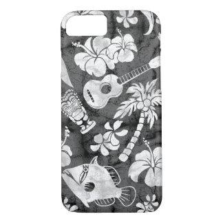 Makapuu Strand-hawaiischer koksgrauer Batik iPhone 8/7 Hülle
