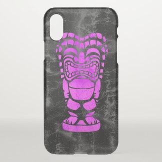 Makapuu Strand hawaiischer lachender Tiki Batik iPhone X Hülle