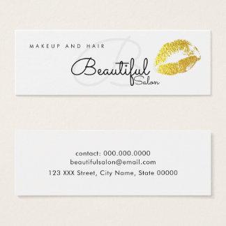 Make-up/Schönheitssalonmonogramm mit den Mini Visitenkarte