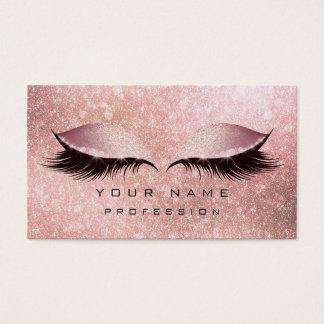 Make-upaugen-Peitschen-Glitzer-Rosen-Gold erröten Visitenkarte