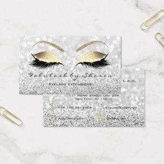 Make-upaugenbraue peitscht Glitzer-Goldsilbernes Visitenkarte