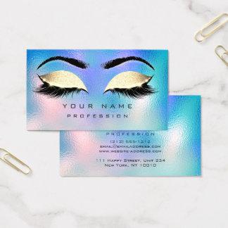 Make-upaugenbrauen-Peitschen-Glitzer-blaues Aqua Visitenkarte